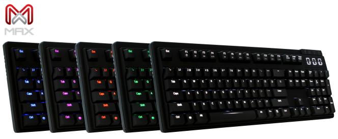 Max Keyboard Nighthawk Backlit Mechanical Keyboard