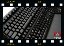 "Top keyboard is our MAX Nighthawk X series and bottom one is ""X"" brand keyboard."
