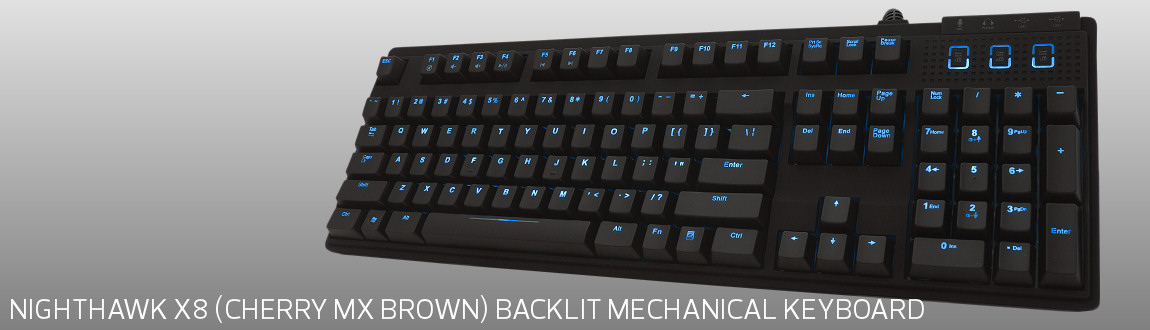 Max Keyboard Nighthawk X8 Backlit Mechanical Keyboard