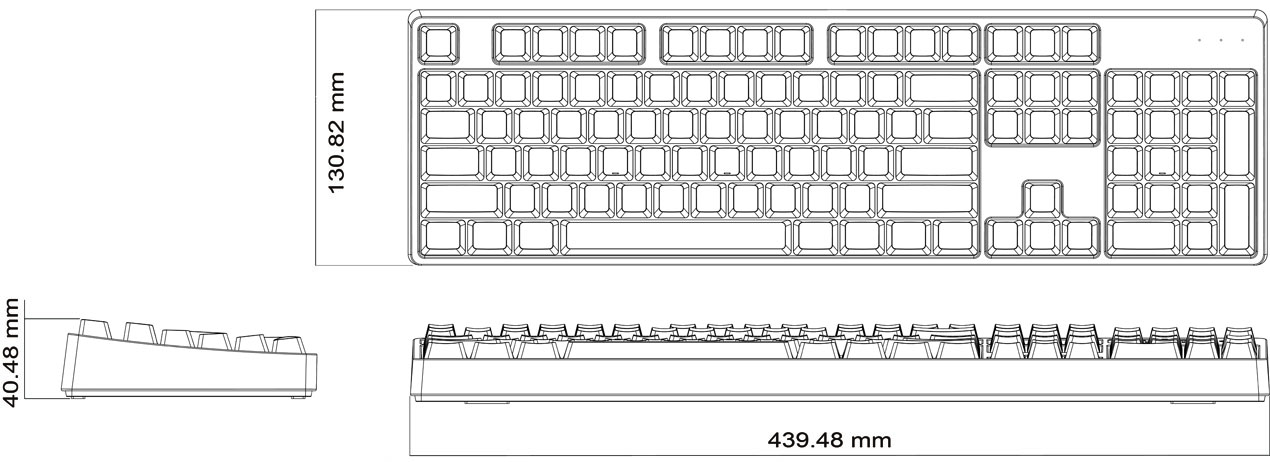 Keyboard Dimensions